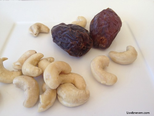 Homemade Lara bar ingredients