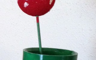 DIY Piranha Plants for a Mario Party